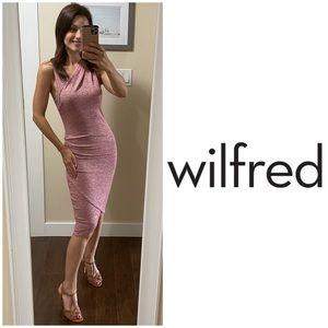 Aritzia Wilfred Free Izidora Dress in Raspberry